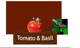 «Domashni Croutons» with Tomato & Basil.